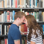 Library Engagement Session – Brandon + Margo: Engaged!